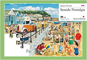 Active Minds 35 Piece Seaside Nostalgia Jigsaw Puzzle | Specialist Alzheimer's/Dementia Activities & Games