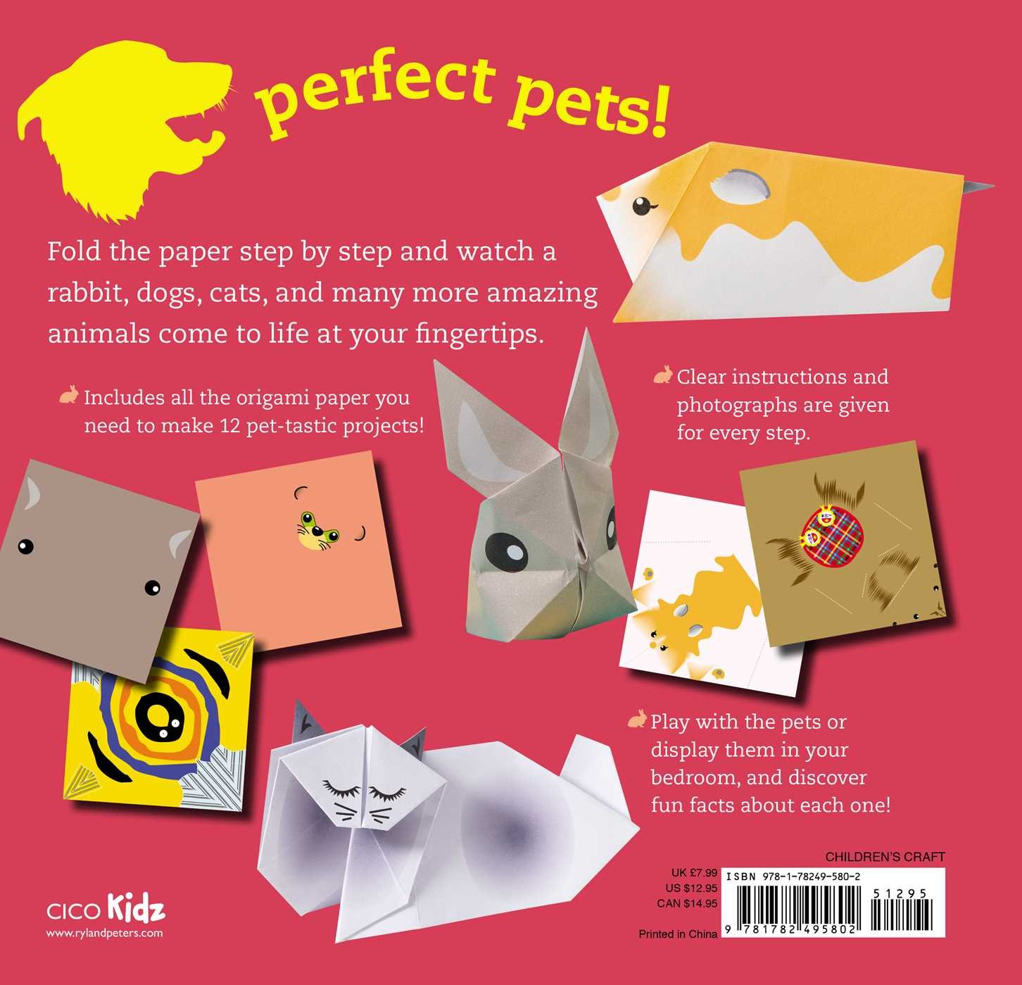 Fun Origami For Children Pets 12 Amazing Animals To Fold Amazon Diagrams And Designs How An Dog Mari Ono 9781782495802 Books