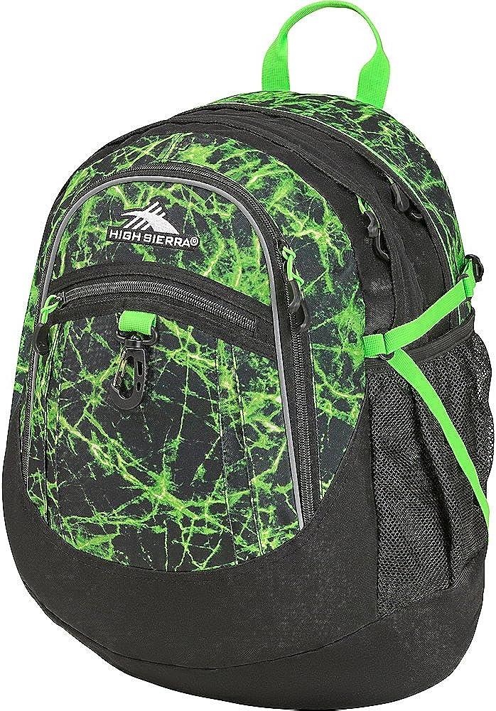 High Sierra Fatboy Backpack, Lime Fire/Black/Lime, 19.5 x 13 x 7-Inch