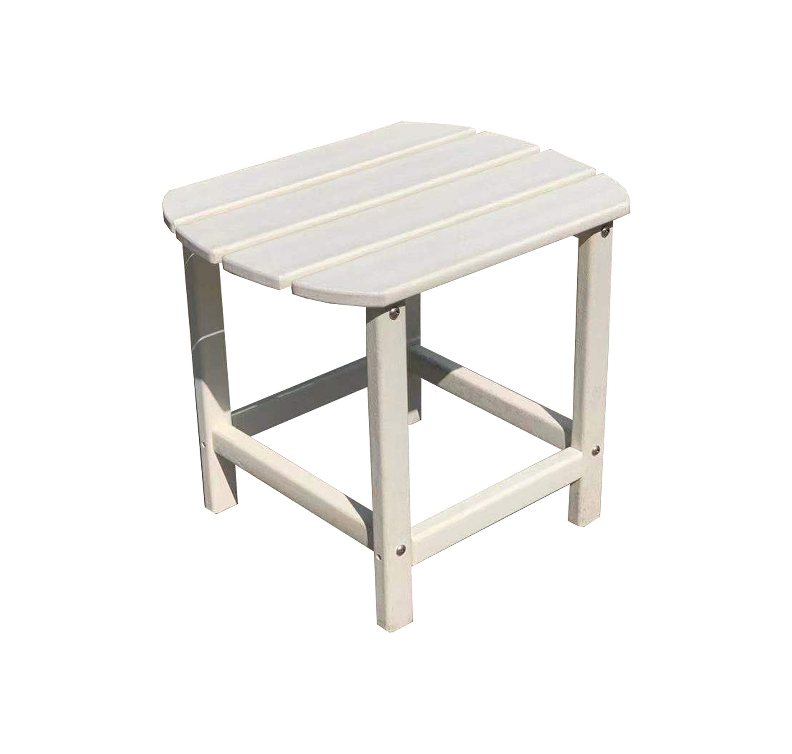 LuXeo LUX-1520-WHT-ST Corona Recycled Plastic Side Table, White by LuXeo