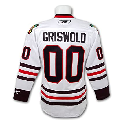 Image Unavailable. Image not available for. Color  Clark Griswold Christmas  Vacation Blackhawks Premier Replica White Hockey Jersey 526a15f6d