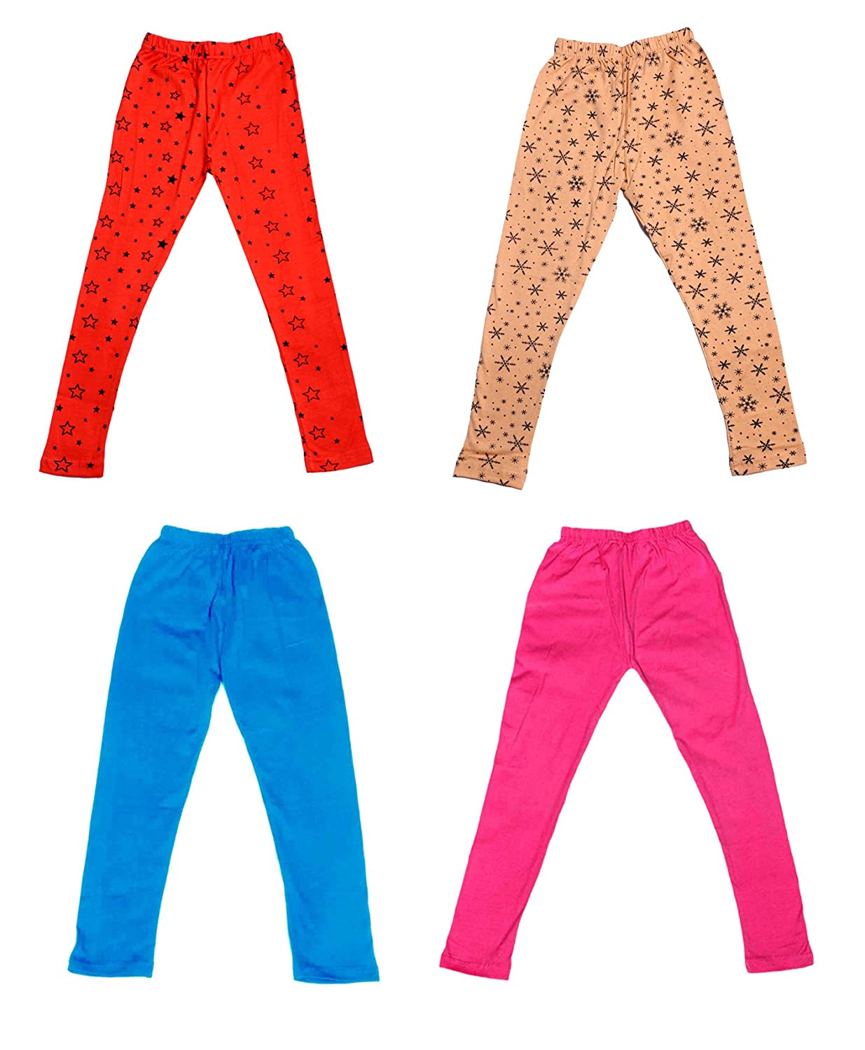 and 2 Cotton Printed Legging Pants Indistar Girls 2 Cotton Solid Legging Pants /_Multicolor/_Size-4-5 Years/_71411121619-IW-P4-26 Pack Of 4