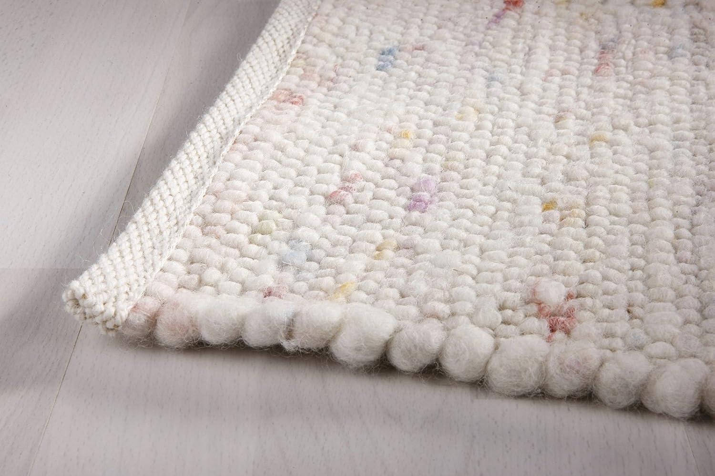 Taracarpet Moderner Landhaus Teppich Handwebteppich Fjord aus hochwertiger Schurwolle Schurwolle Schurwolle beidseitig legbar echte Handarbeit Farbe 1 Natur meliert 070x140 cm B0731C6PLZ Teppiche 976522