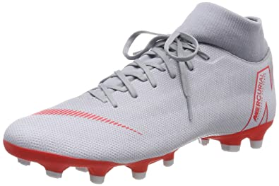 2788c26ba Nike Mens Superfly 6 Academy MG Wolf Grey LT Crimson Platinum Size 8