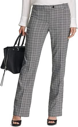 Calvin Klein Womens Petites Plaid Modern Fit Trouser Pants