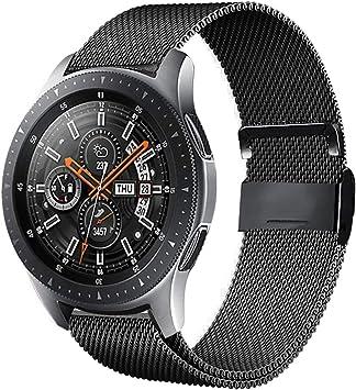 Urtone - Correa de metal para Samsung Gear S3 Frontier / Classic, 22 mm, acero inoxidable, correa de repuesto para reloj Gear S3 / Galaxy Watch 46 mm (Black01): Amazon.es: Electrónica