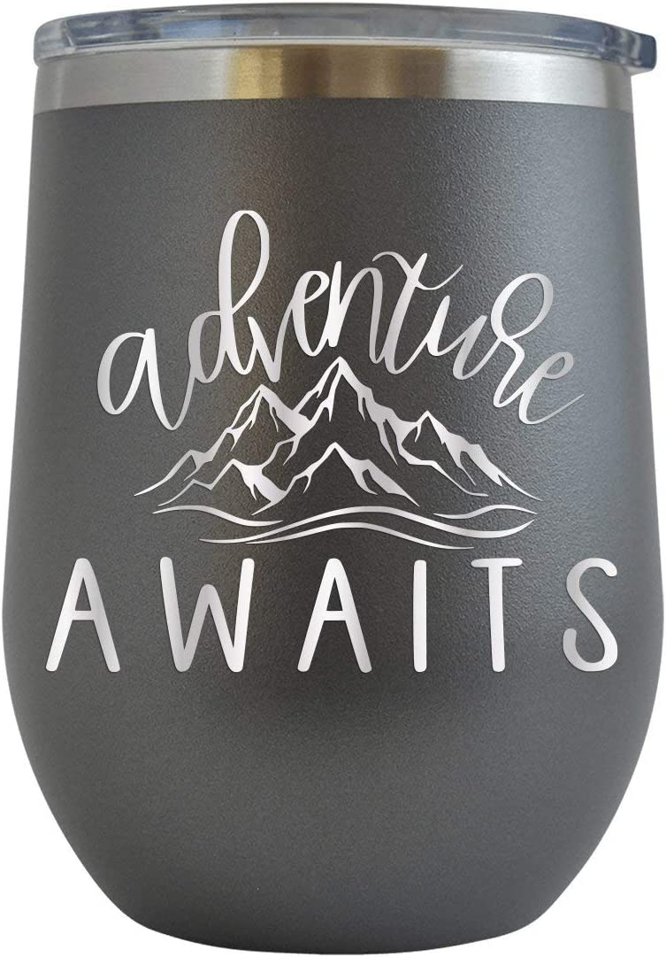 Details about  /Hiking Wine Tumbler Travel Cup Funny Gift Wild Great Outdoors Camping Backpack