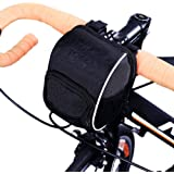 Soldcool Cycling Bike Bicycle Handlebar Bags Front Baskets Black with FREE Rain Cover