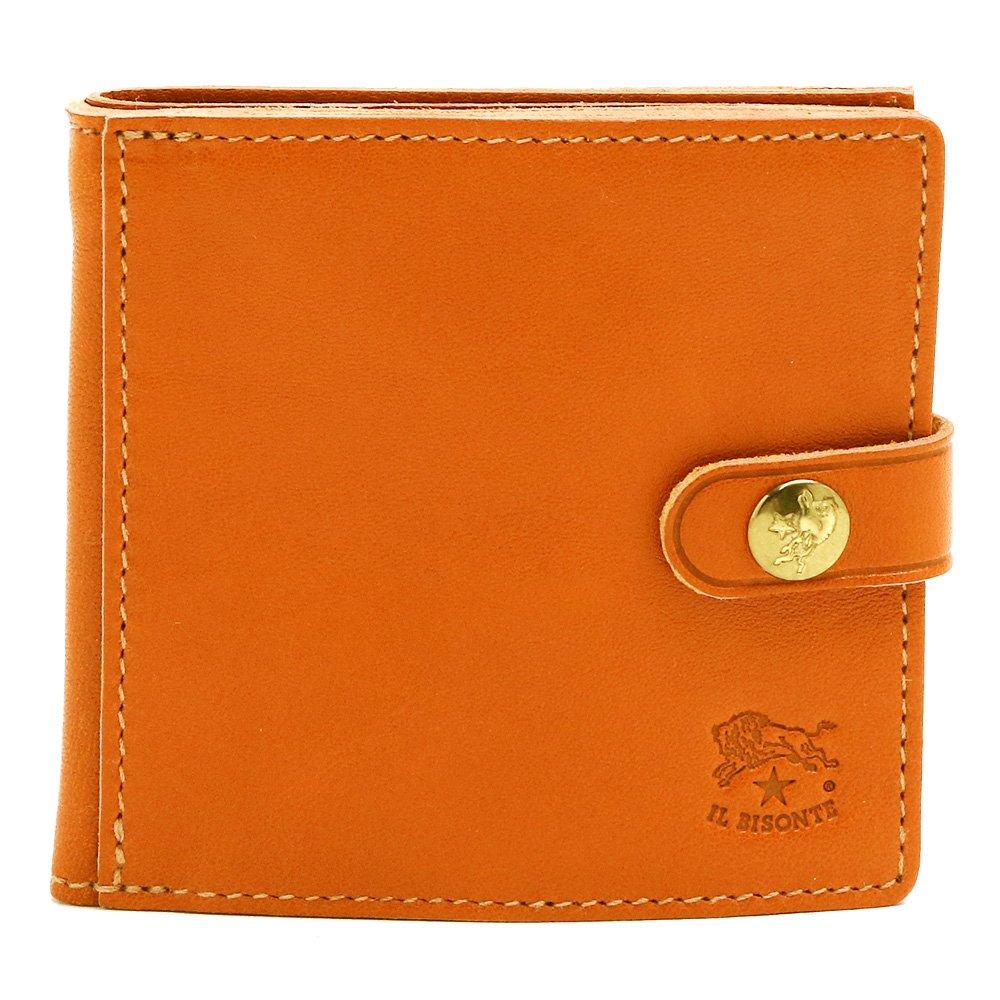 [イルビゾンテ] IL BISONTE 財布 2つ折り 選べる3色 コインケース付き コンパクト C0508 B07F3X7YJ6 P145/CARAME(キャラメル) P145/CARAME(キャラメル) -