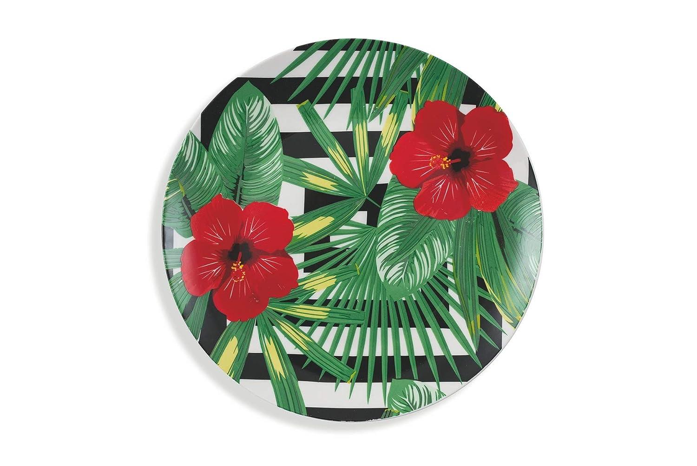af515fca842854 Villa dEste Home Tivoli Club Tropicana Service de Table en Porcelaine,  Multicolore, 18 pièces