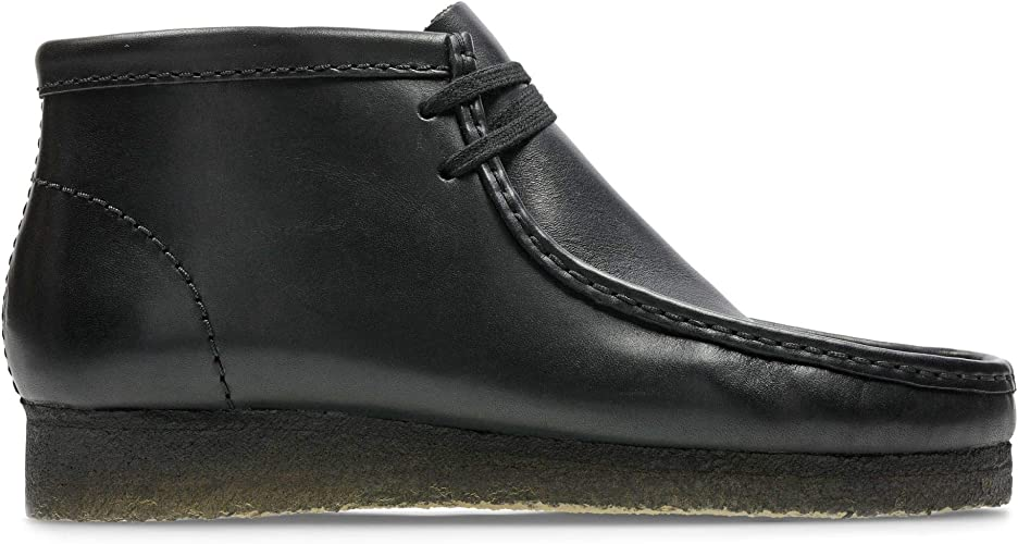 Clarks Originals Wallabee, Botas de Cuero Hombre, Negro (Black Leather), 46 EU