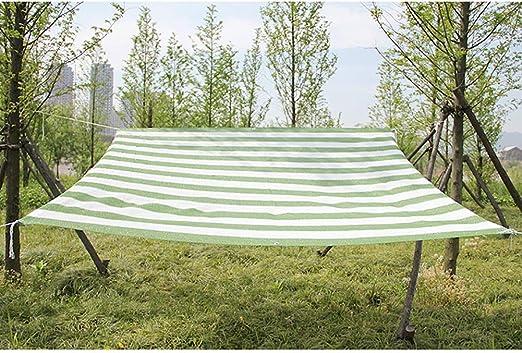 GuoWei- Velas de sombra 65% Solar Obstruido Malla Neto Transpirable con Ojales Cubrir Jardin Plantas Pérgola Al Aire Libre, Verde y Blanco (Size : 4x5m): Amazon.es: Jardín