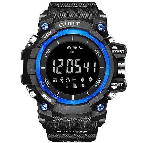 Zhhlinyuan Hombres Deportes Relojes de Cuarzo Impermeable Analógico Digital Informal de Negocios Reloj de Pulsera Backlight
