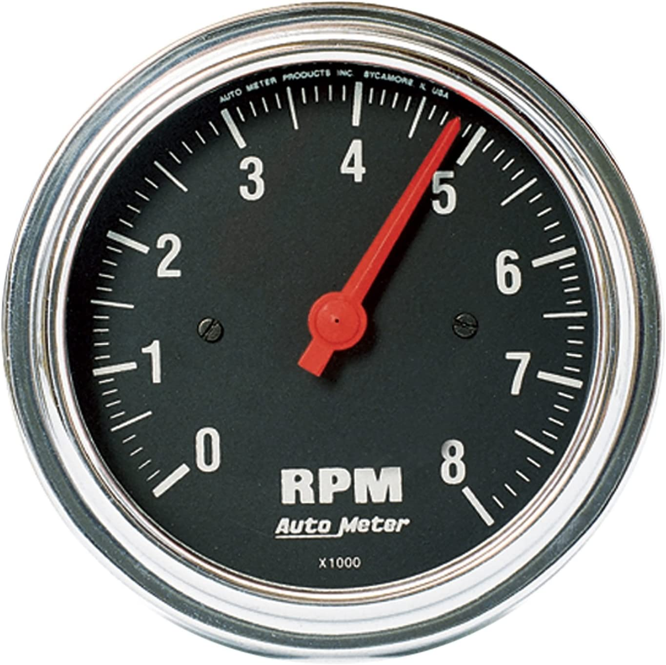 AUTO METER 2499 Traditional Chrome in-Dash Electric Tachometer