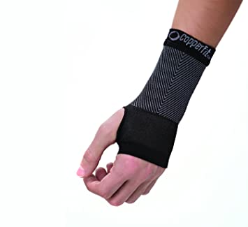 40d30feef1 Image Unavailable. Image not available for. Color: Copper Fit Unisex  Advanced Support Wrist Sleeve ...