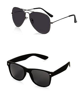 c4f86e1f06e Generic Men s Aviator and Wayfarer Sunglasses(Black)  Amazon.in  Clothing    Accessories