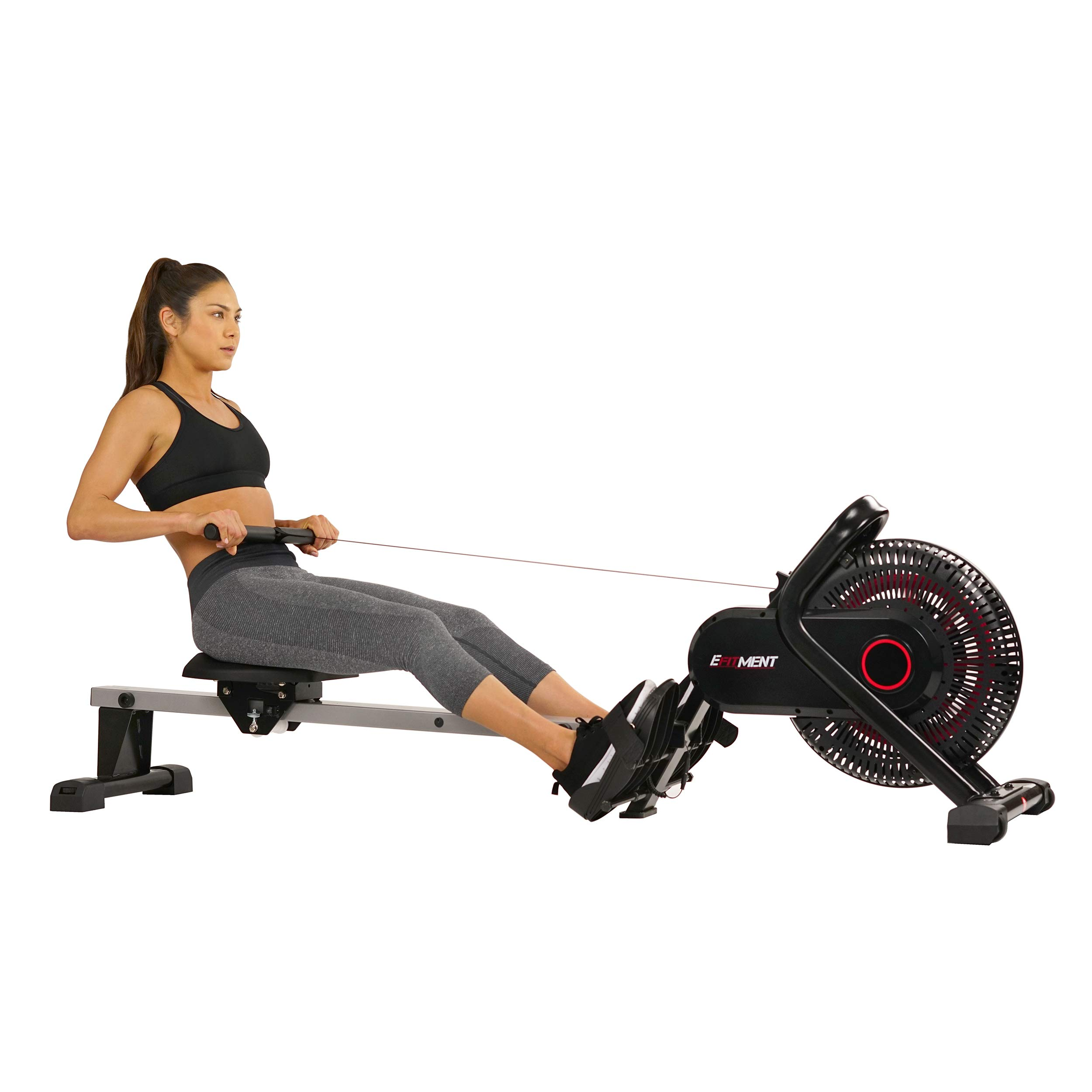 EFITMENT Aero Air Fan Rowing Machine Rower w/LCD Monitor