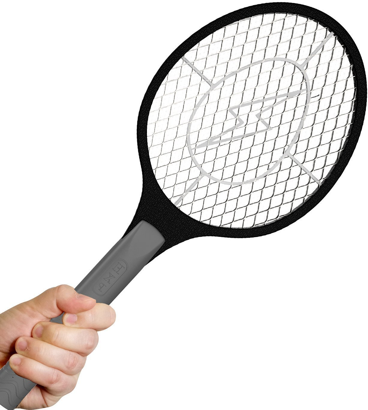 Bugzoff Electric Fly Swatter [Destroys Insects in Seconds] Mosquito Repellent & Insect Bug Killer Best Zapper Racket for Flies - Swat Wasp Insect Repellent Indoor and Outdoor Trap & Zap Pest Control
