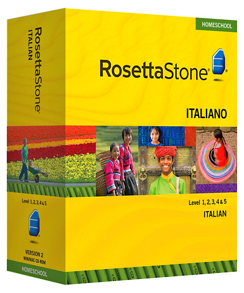 Amazon.com: Rosetta Stone Homeschool Italian Level 1-5 Set ...