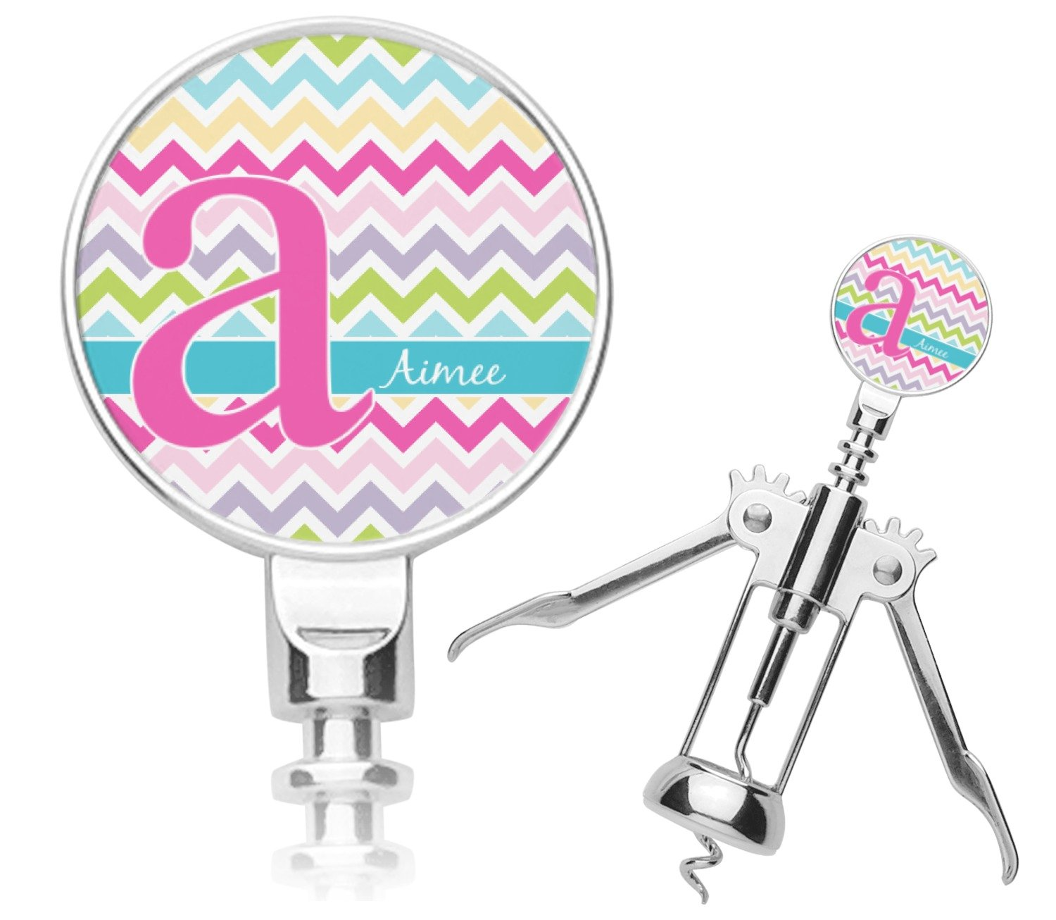 Colorful Chevron Corkscrew (Personalized) Mom Innovations