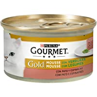 Purina - Gourmet Gold Mousse Pato y Espinacas - Pack de 24 x 85 g - Total 2040 g