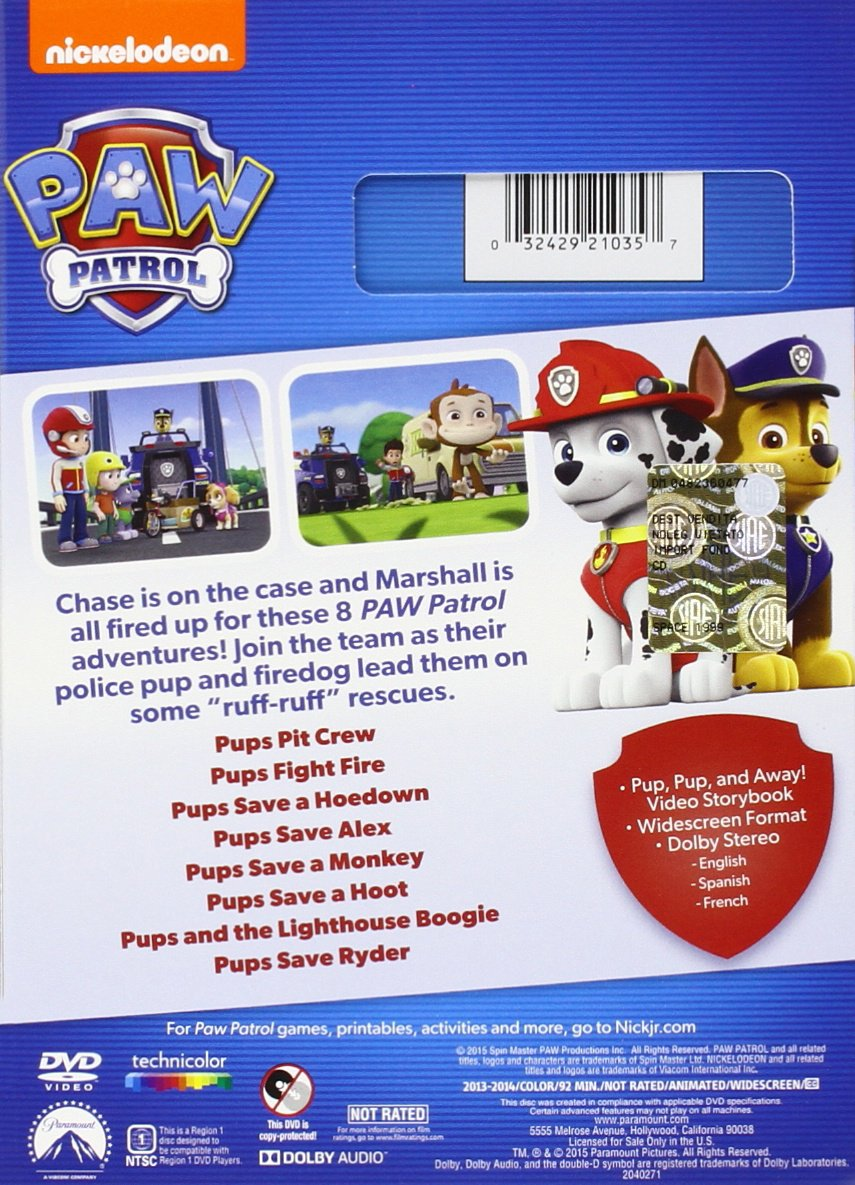 Amazon.com: Paw Patrol: Marshall U0026 Chase On The Case: Gage Munroe, Alex  Thorne, Devan Cohen, Kallan Holley, Christian Distefano: Movies U0026 TV
