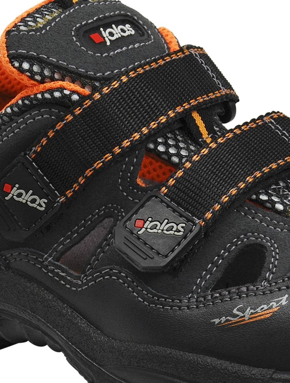 Gr/ö/ße 42 schwarz//orange Ejendals 3408A-42 Sicherheitssandalen Jalas 3408A Monza Sport