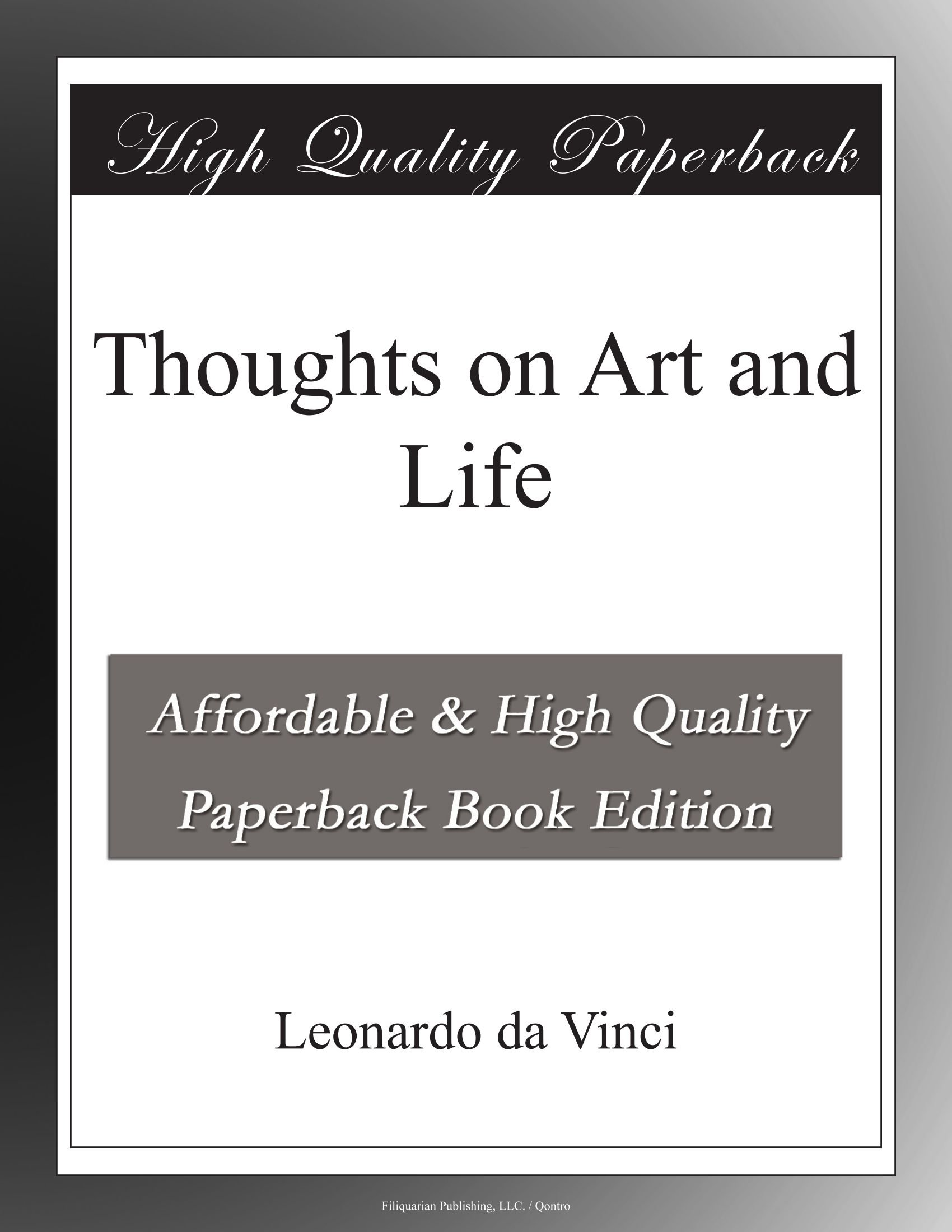 Thoughts on Art and Life pdf