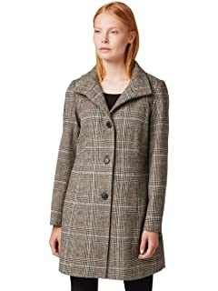 TOM TAILOR Cosy Fake Shearling Damen Mantel Weiß