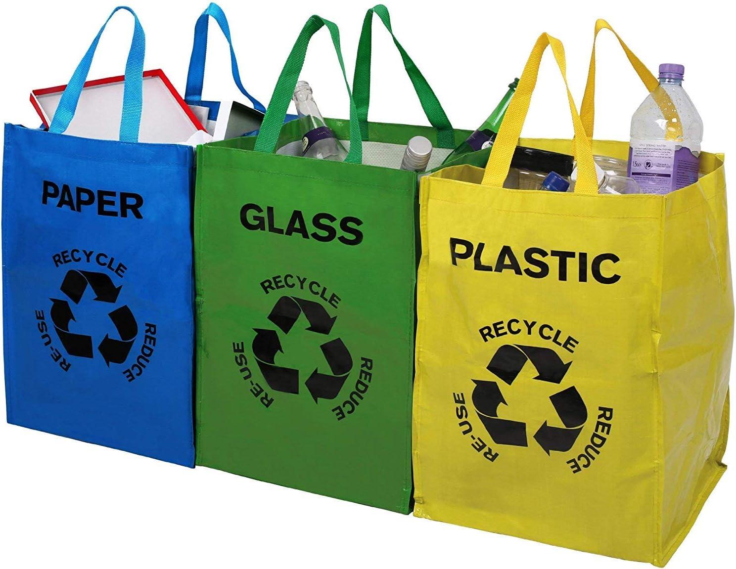Premier Housewares - Juego de Bolsas de Reciclaje (3 Unidades), Multicolor