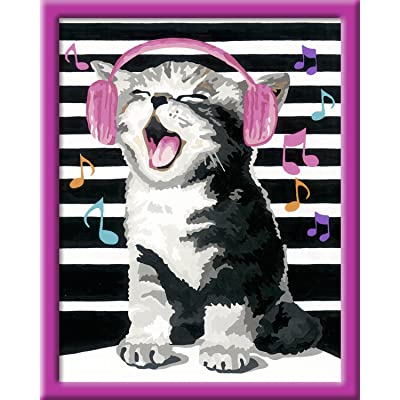 Singing Cat Malen nach Zahlen Serie C: Ohne Rahmen!