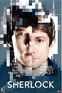 sherlock and watson faces sherlock holmes british crime drama tv television show print