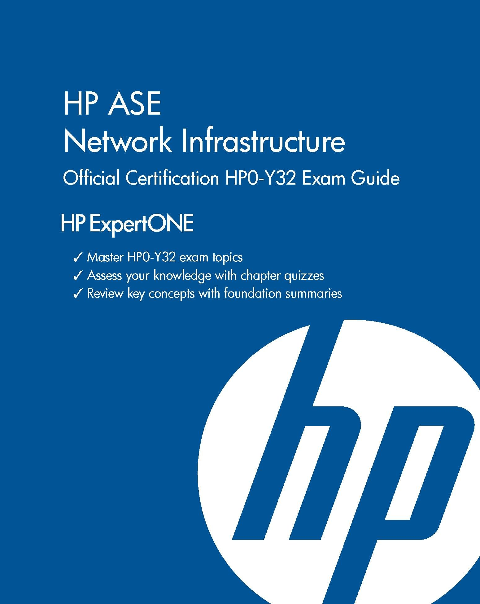 Hp Ase Network Infrastructure Official Certification Hp0 Y32 Exam