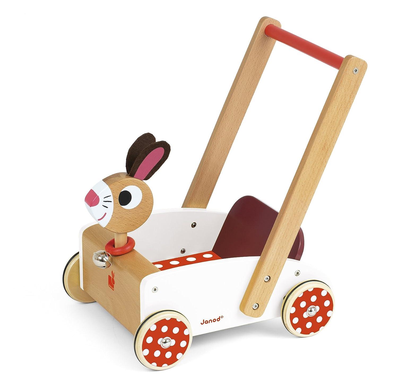 Janod - J05997 - Janod Lauflernwagen aus Holz, Crazy Rabbit 5f1706