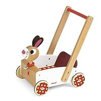 Janod - Carretto di Legno per Bambini, Crazy Rabbit, J05997
