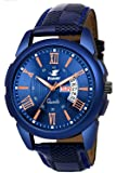 Espoir Analogue Blue Dial Day and Date Boy's and Men's Watch - CheckBlueRay0507