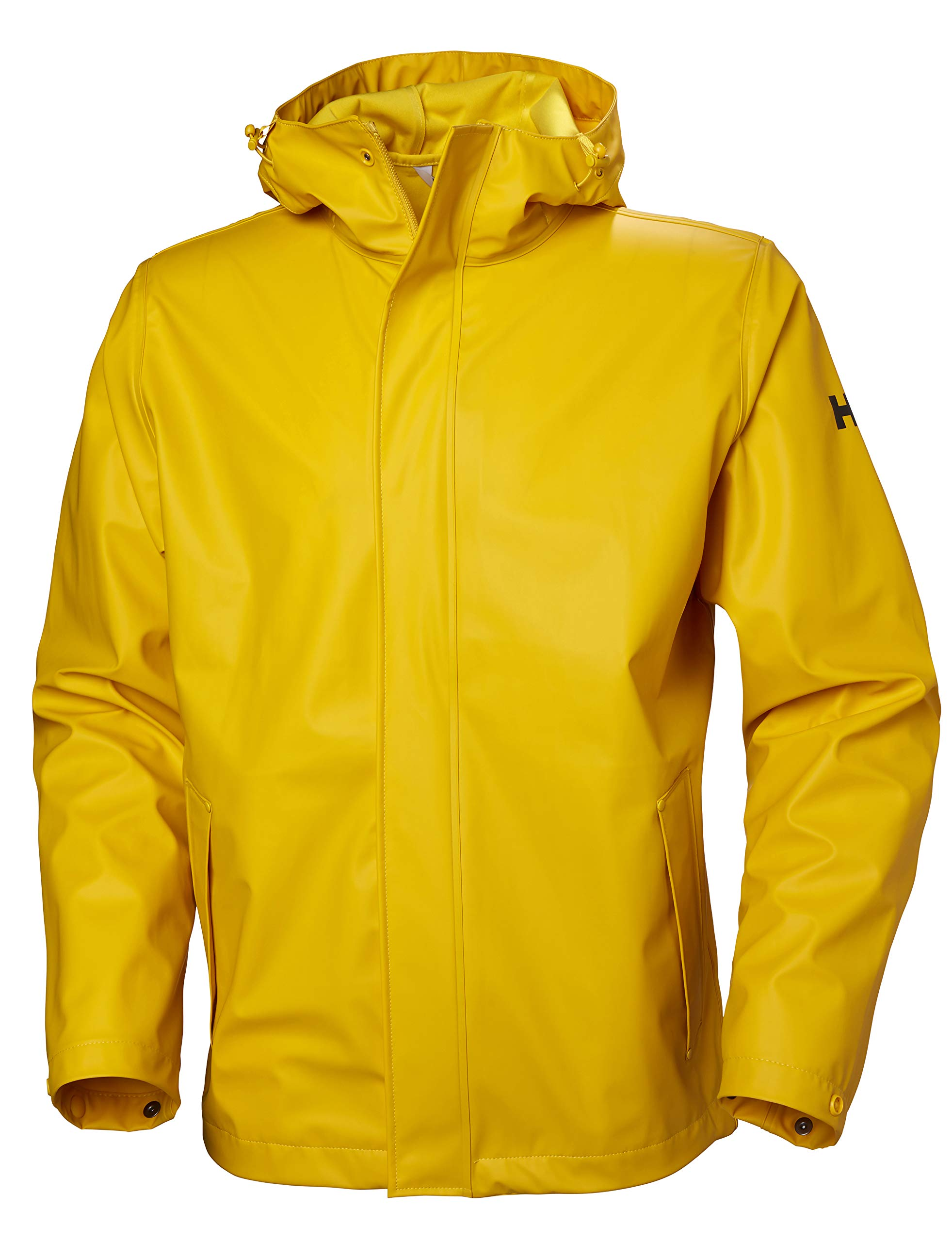 Helly Hansen Men's Moss Hooded Fully Waterproof Windproof Raincoat Jacket, 344 Essential Yellow, Large by Helly Hansen