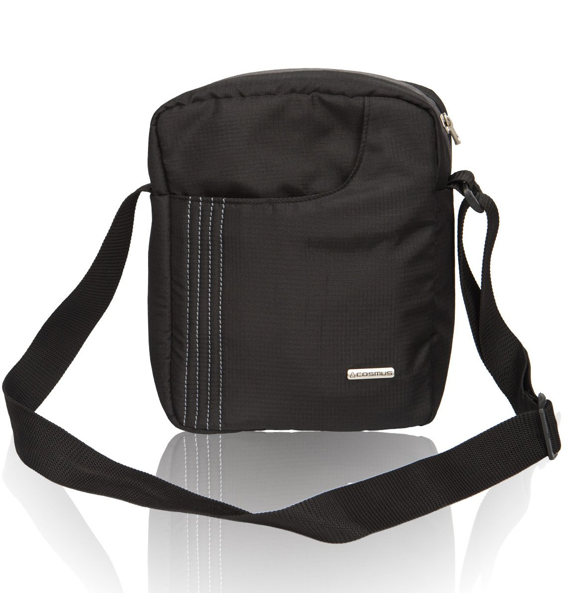 Cosmus Stitchwell 6 Litres Black Sling Bag: Amazon.in: Bags ...