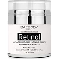 Baebody Retinol Moisturizer Cream for Face and Eye Area - With Retinol, Jojoba Oil, Vitamin E. Fights the Appearance of Wrinkles, Fine Lines. Best Day and Night Cream 1.7 Fl. Oz