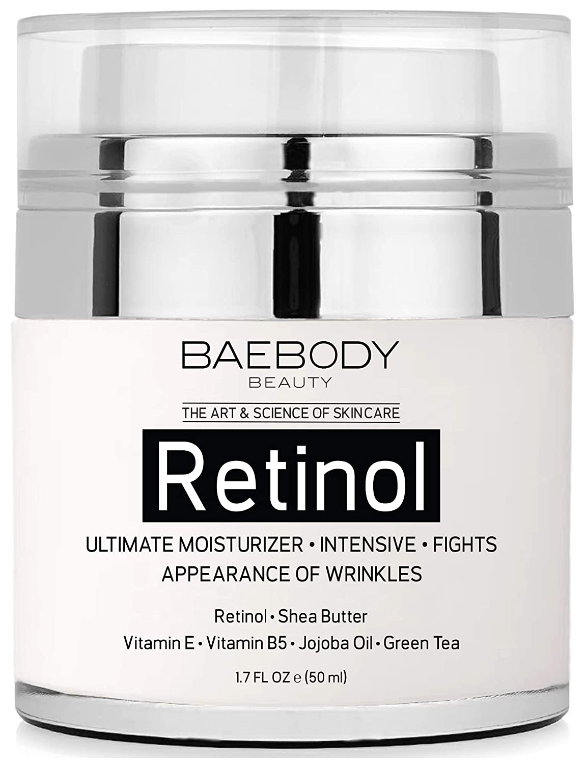 Baebody Retinol Moisturizer Cream with Retinol Jojoba Oil  Vitamin E 17 Ounces
