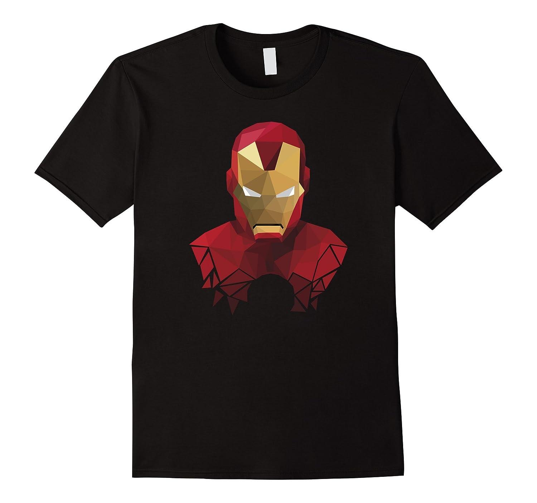 Geometric Style Iron Man Graphic T-Shirt-FL