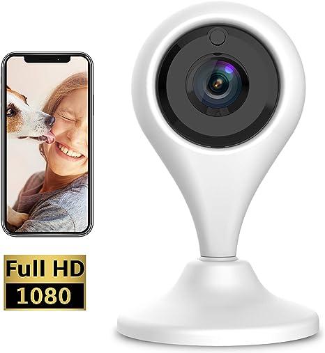Keyke Cámara Vigilancia WiFi 1080p, Cámara IP Interior, Sistema de Vigilancia, Visión Nocturna, Alertas de Movimiento, Audio Bidireccional Servicio de Nube: Amazon.es: Electrónica