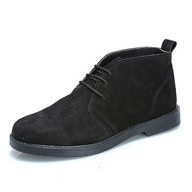 MForshop Scarpe Uomo Scarponcino camoscio para Shoes Polacchino Vera Pelle  1312 (42 ee7204c6696