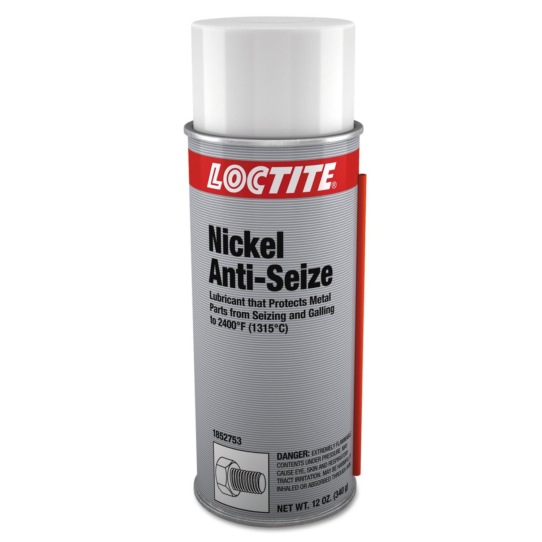 Loctite 1852753 Silver LB 8507 Nickel Anti-Seize Lubricant, 12 fl. oz. Aerosol Can (Pack of 12)
