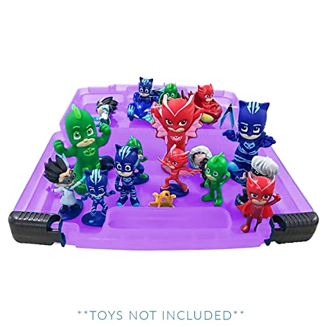 Life Made Better PJ Masks Sticker Book + Case, Toy Storage Carrying Box. Figures