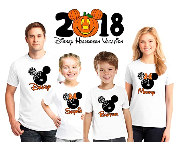 Disney Halloween T Shirts.Halloween Disney Family Matching Custom Shirts Halloween Family Vacation Disney Shirts Personalized Matching Disney Shirts For Family Not So Scary