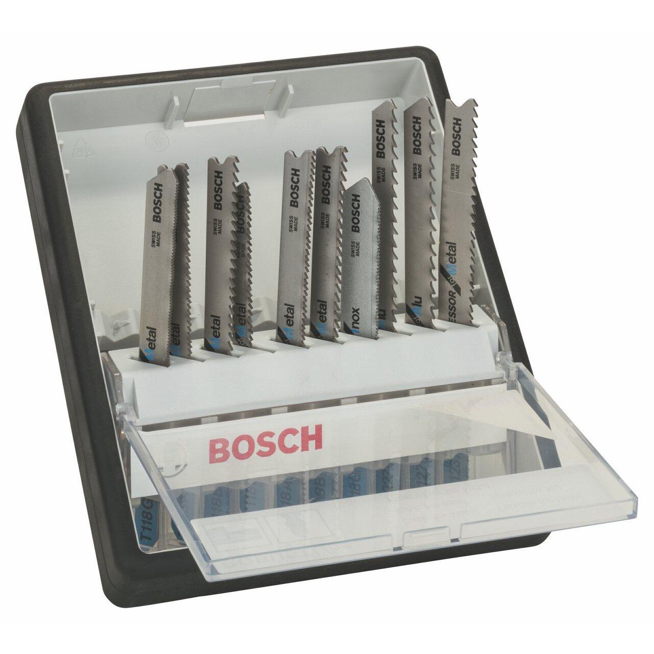 Bosch 2 607 010 541 - Juego de 10 hojas de sierra de calar Robust Line Metal Expert, vástago en T - - (pack de 1; 1; 1; 1; 1; 1; 1; 1; 1; 1) vástago en T - - (pack de 1; 1; 1; 1; 1; 1; 1; 1; 1; 1) 2607010541