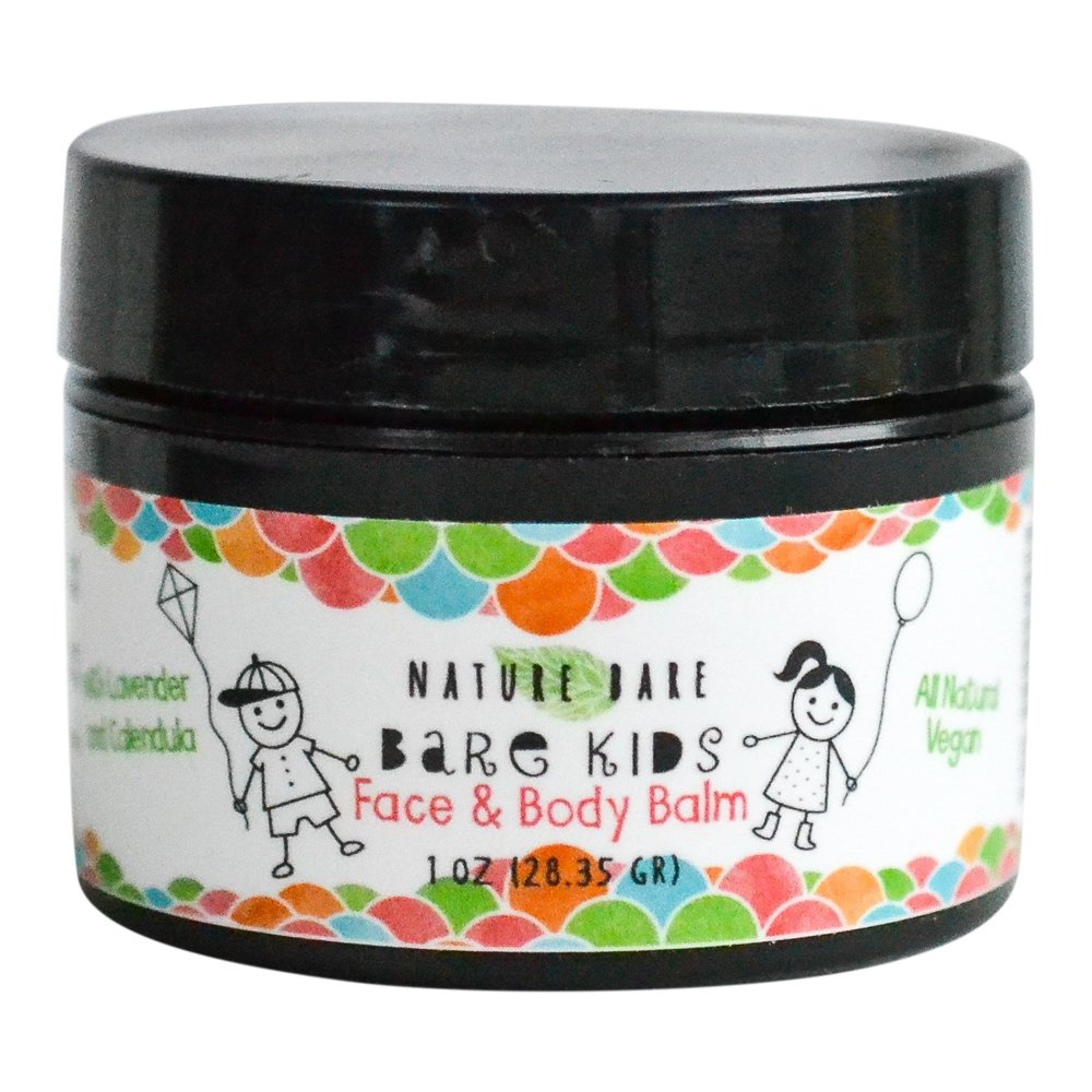 Nature Bare Body Care - Bare Kids Face and Body Balm - All Natural Organic Vegan Lotion for Babies, Toddlers, Kids and Children - Moisturizes and Treats Eczema, Cradle Cap and Dry Skin