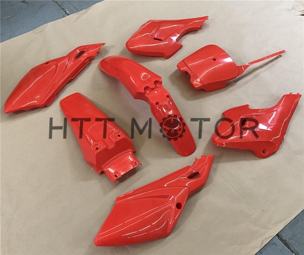XKH Group 7 PCs Black Plastic Fairing Body Cover Kits For Baja Dirt Runner 125