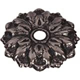 The Hillman Group 59219 1-Inch Antique Silver Round Rosette, 12-Pack